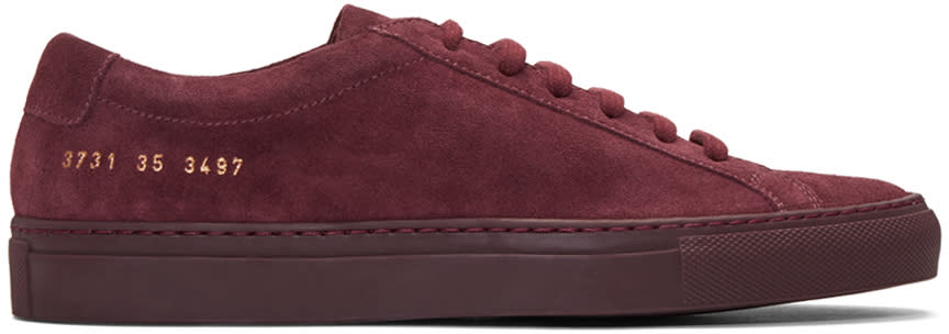 Woman By Common Projects Burgundy Original Achilles Sneakers