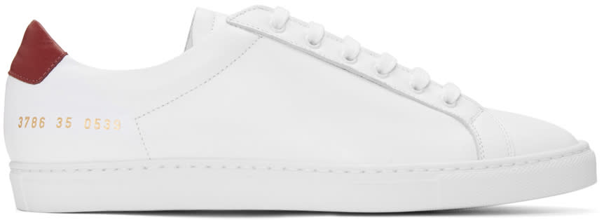 Woman By Common Projects White Achilles Retro Sneakers
