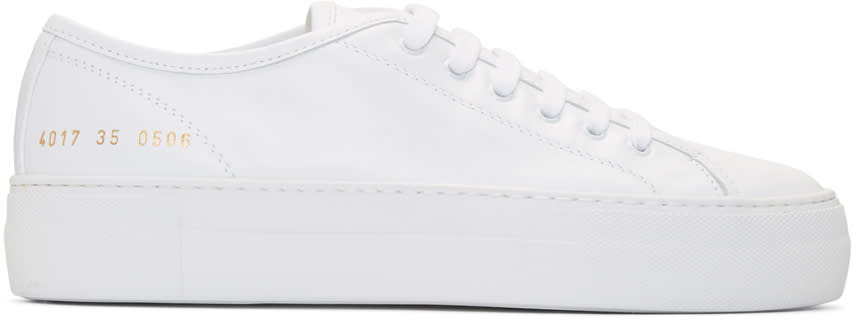 Woman By Common Projects White Tournament Low Super Sneakers