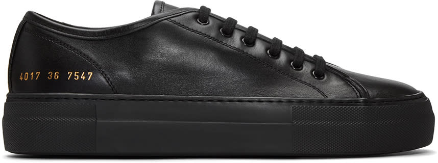 Woman By Common Projects Black Tournament Low Super Sneakers