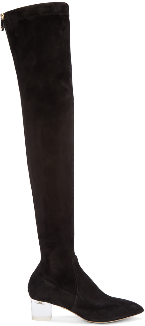 Charlotte Olympia Black Suede Endless Boots