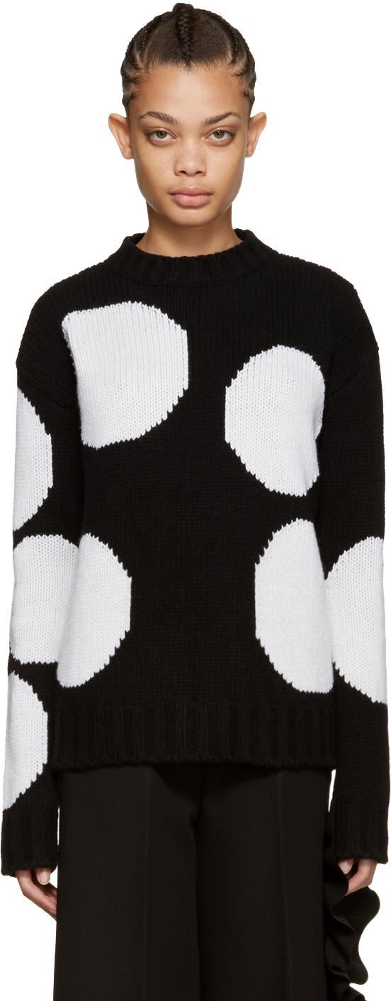 Msgm Black Polka Dot Sweater