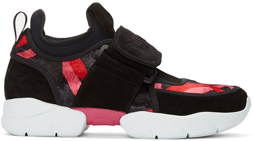 Msgm Multicolor Logo Strap Sneakers