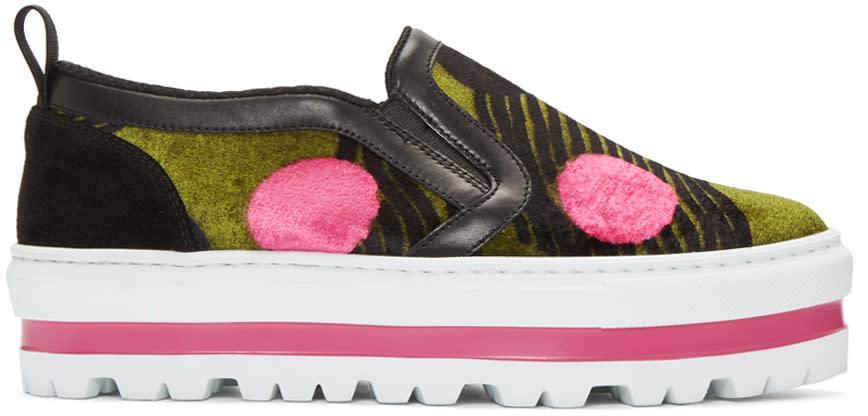 Msgm Multicolor Dots Platform Sneaker
