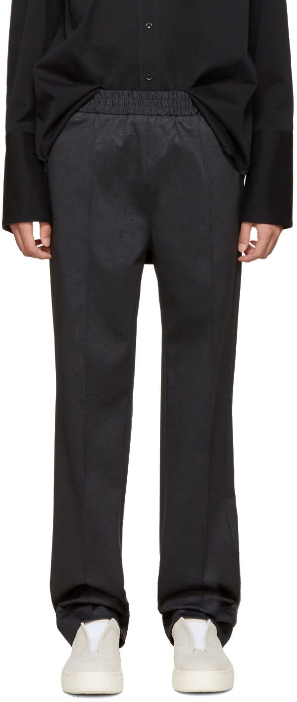 Msgm Grey Check Trousers