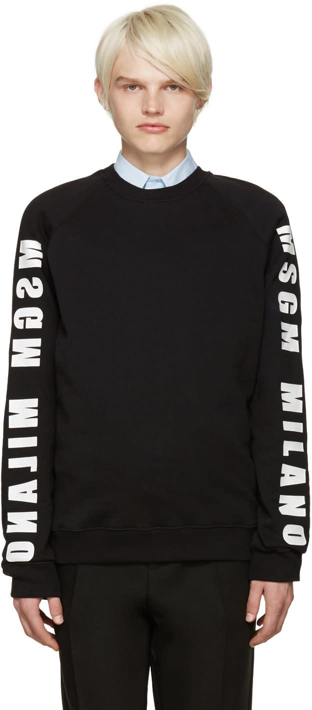 Msgm Black Logo Sweatshirt