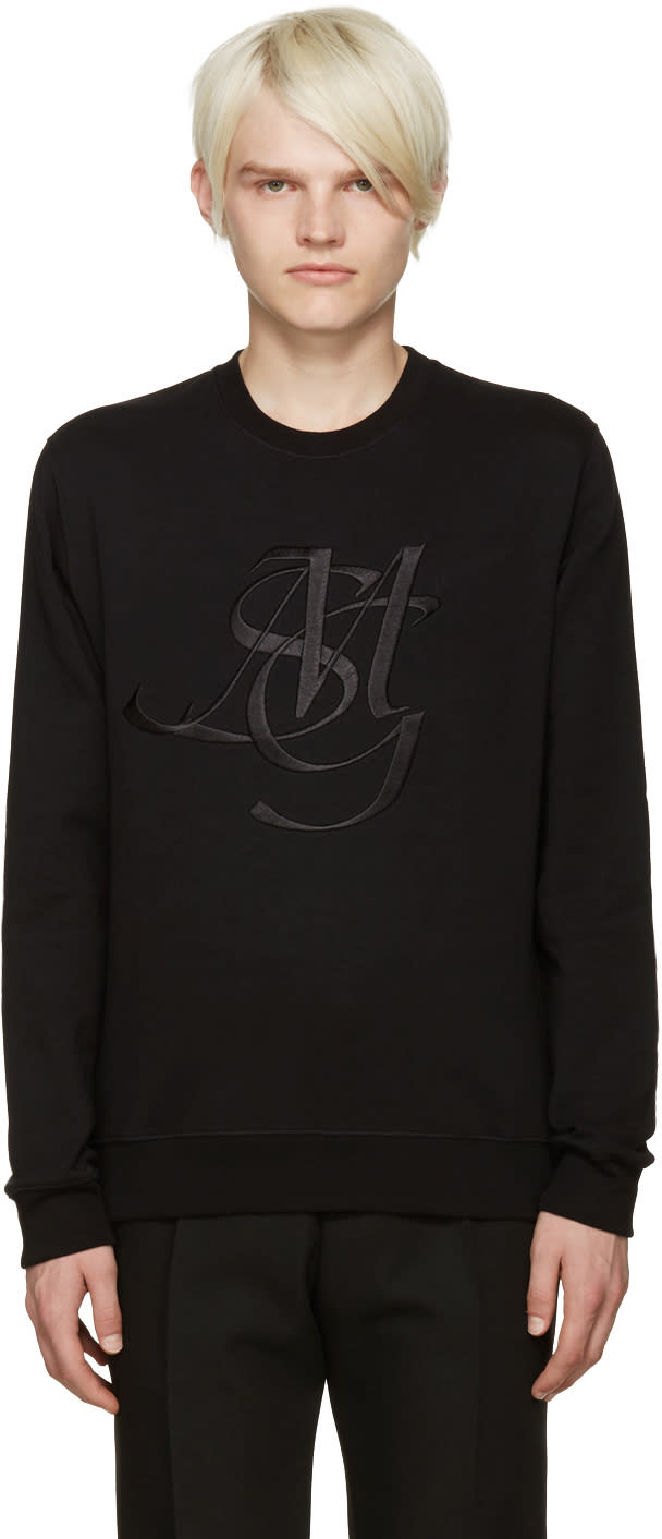 Msgm Black Monogram Sweatshirt
