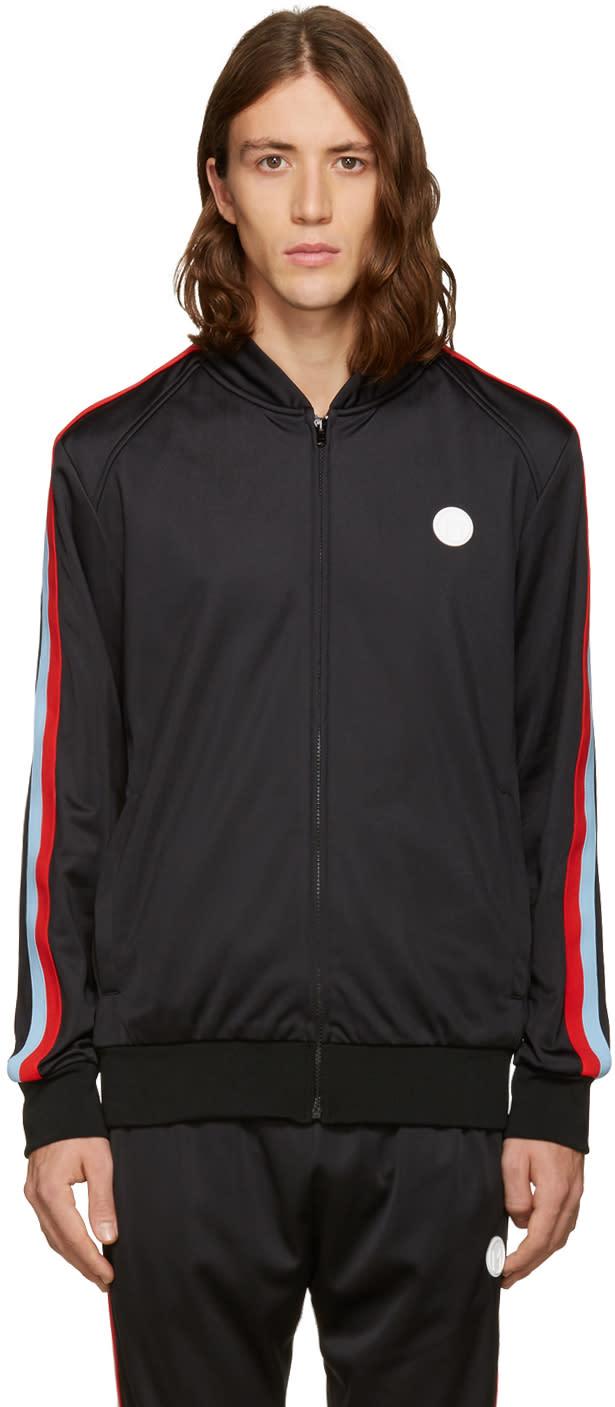 Msgm Black Track Zip Jacket