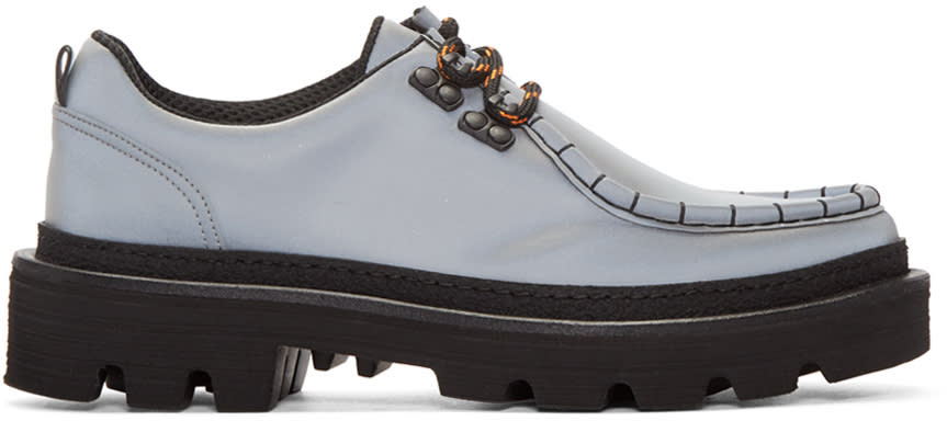 Msgm Grey Ms Crepe Shoes