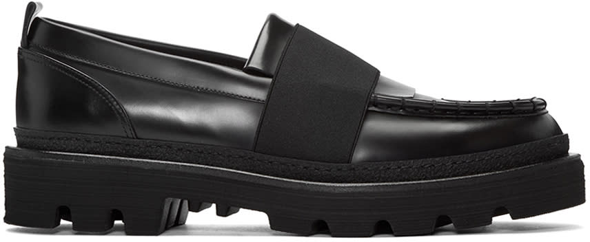 Msgm Black Ms Gore Loafers