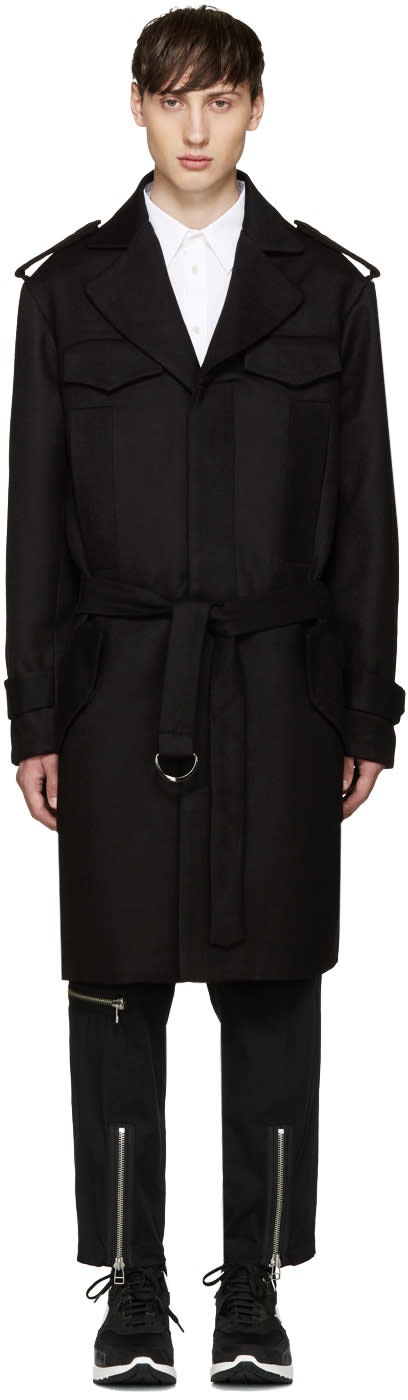 Ktz Brown Wool Trench Coat