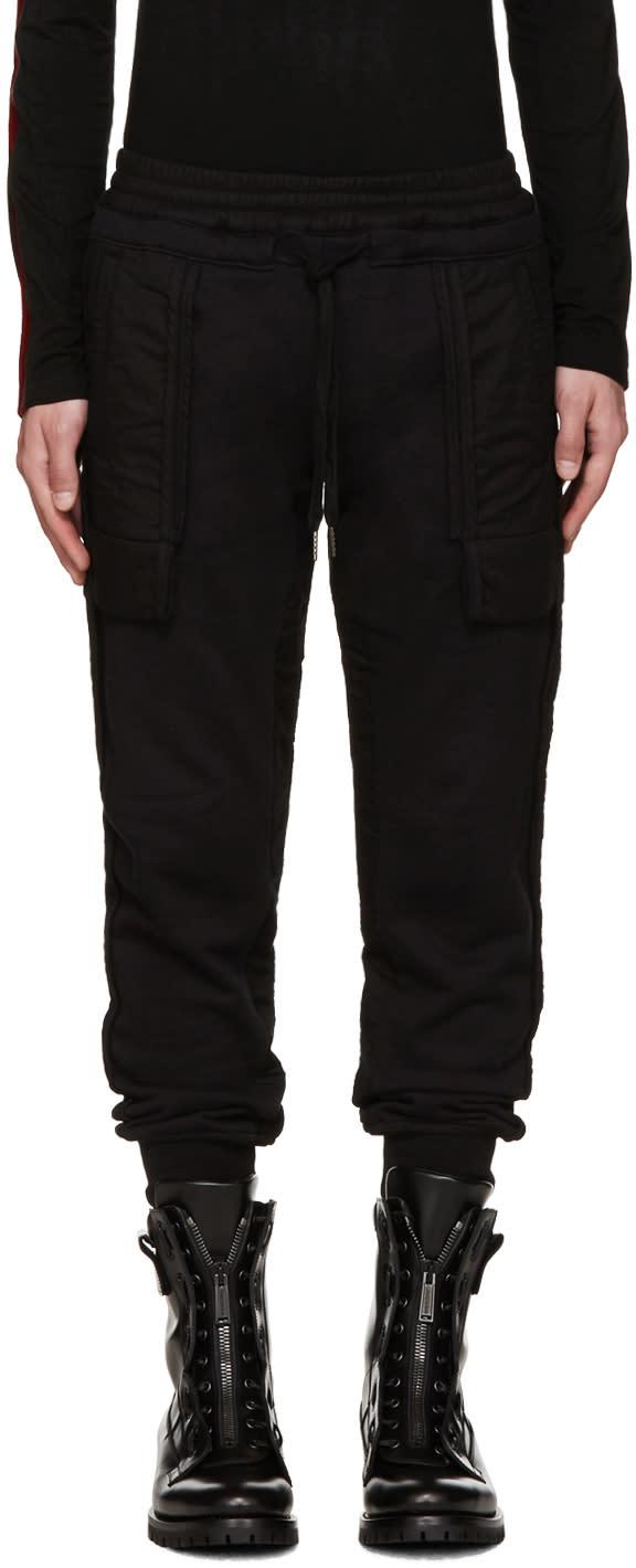 Ktz Black Inside-out Lounge Pants