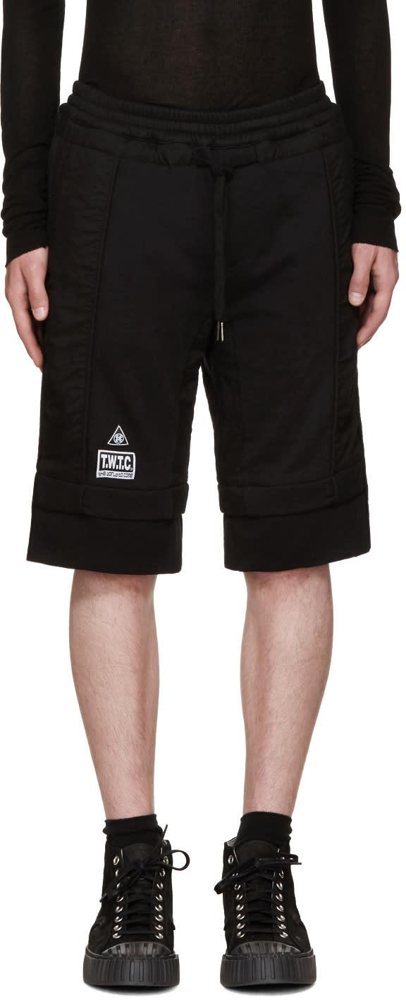Ktz Black Logo Patch Lounge Shorts
