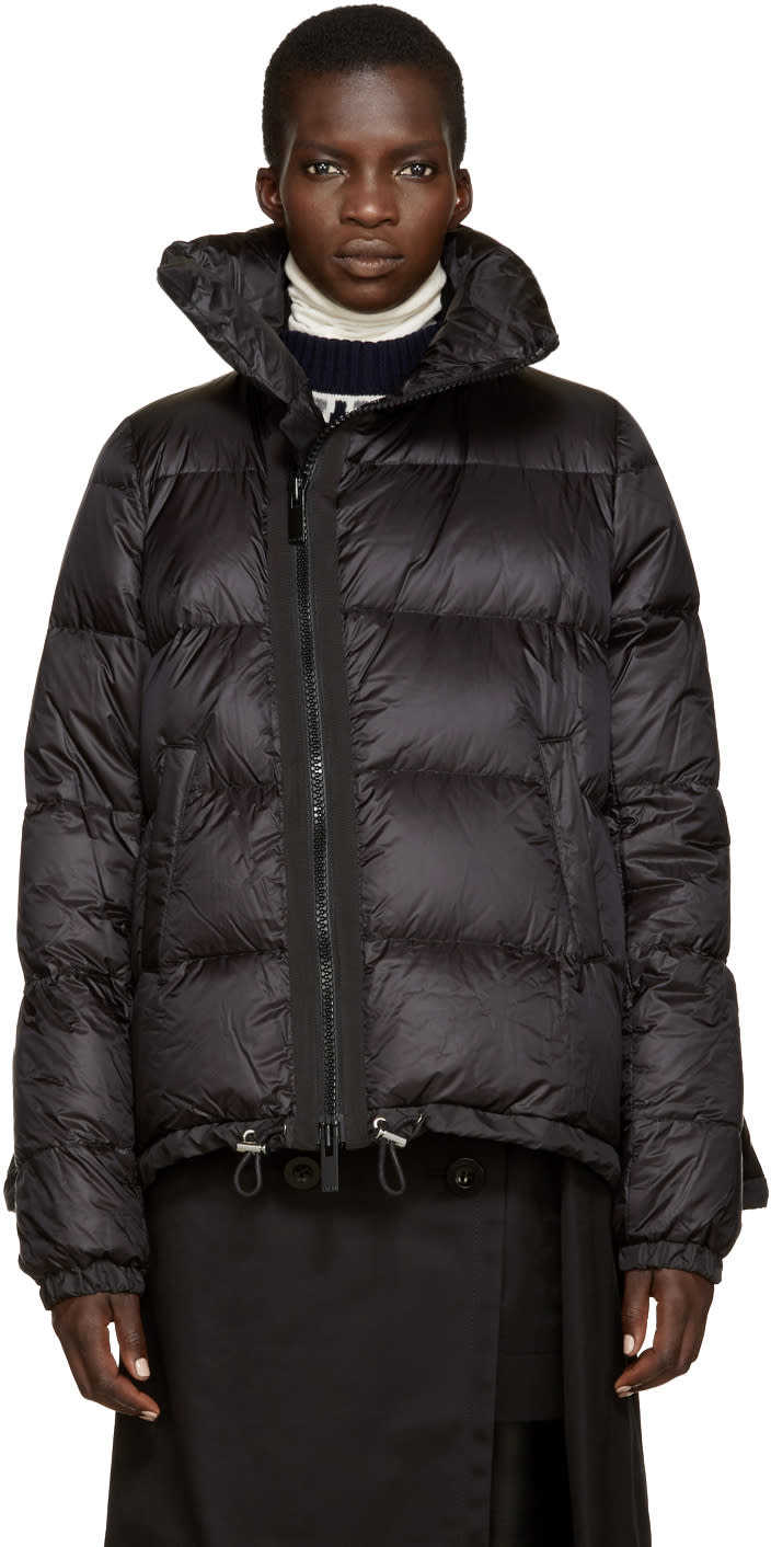 Sacai Black Quilted Down Jacket