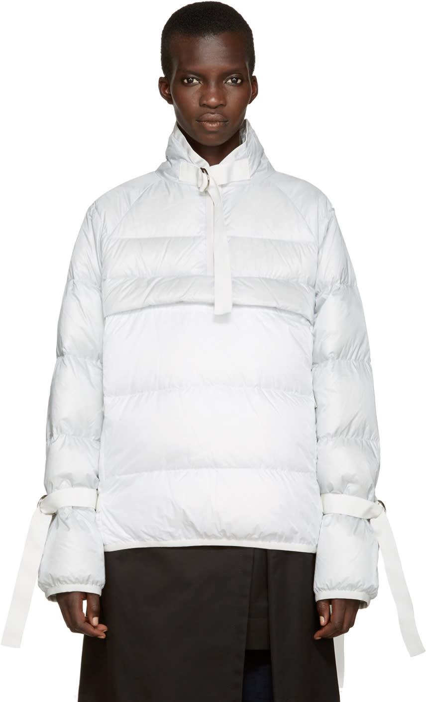 Sacai Grey and White Down Jacket