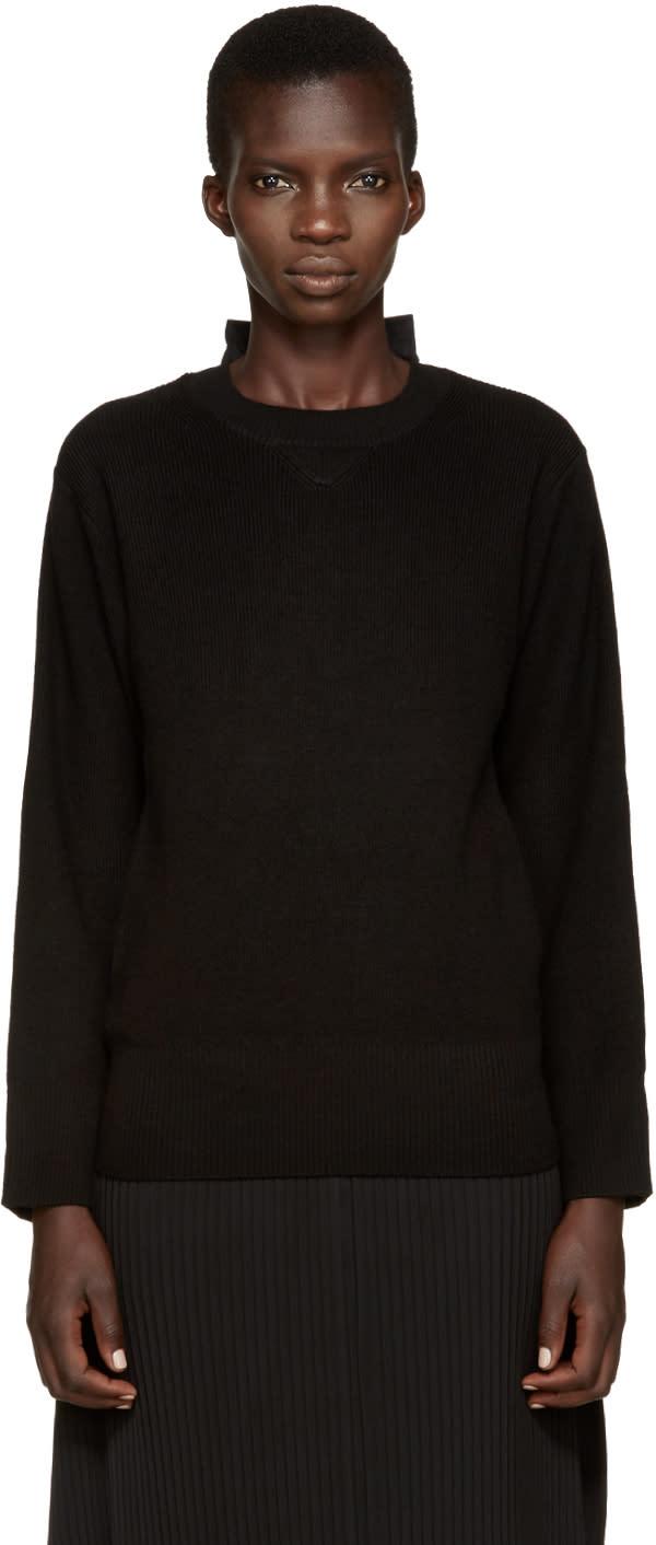 Sacai Black Hybrid Pullover