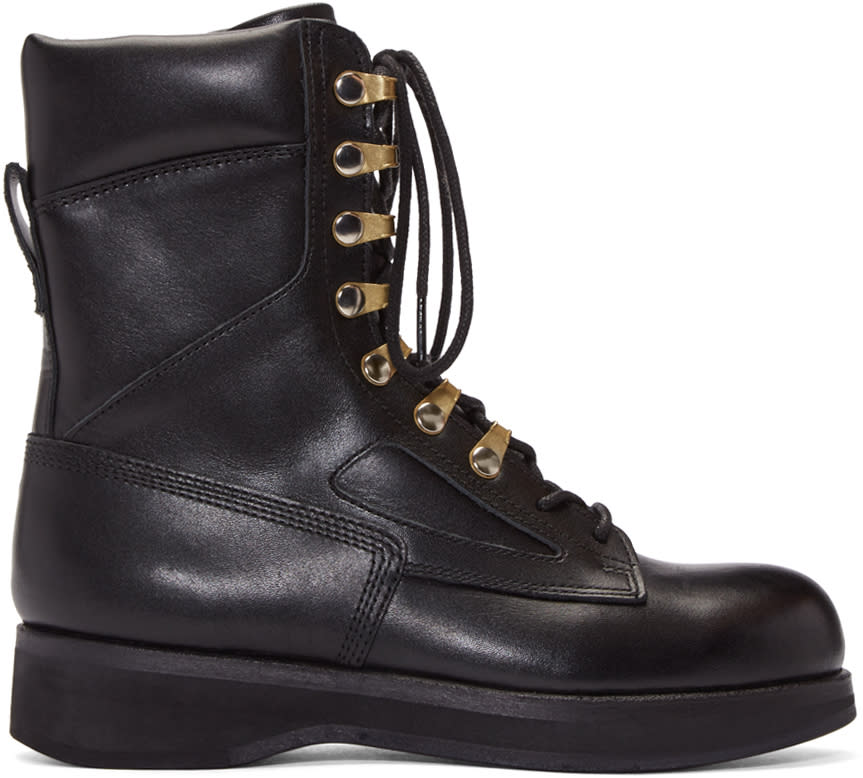 Sacai Black Hender Scheme Edition Lace-up Boots