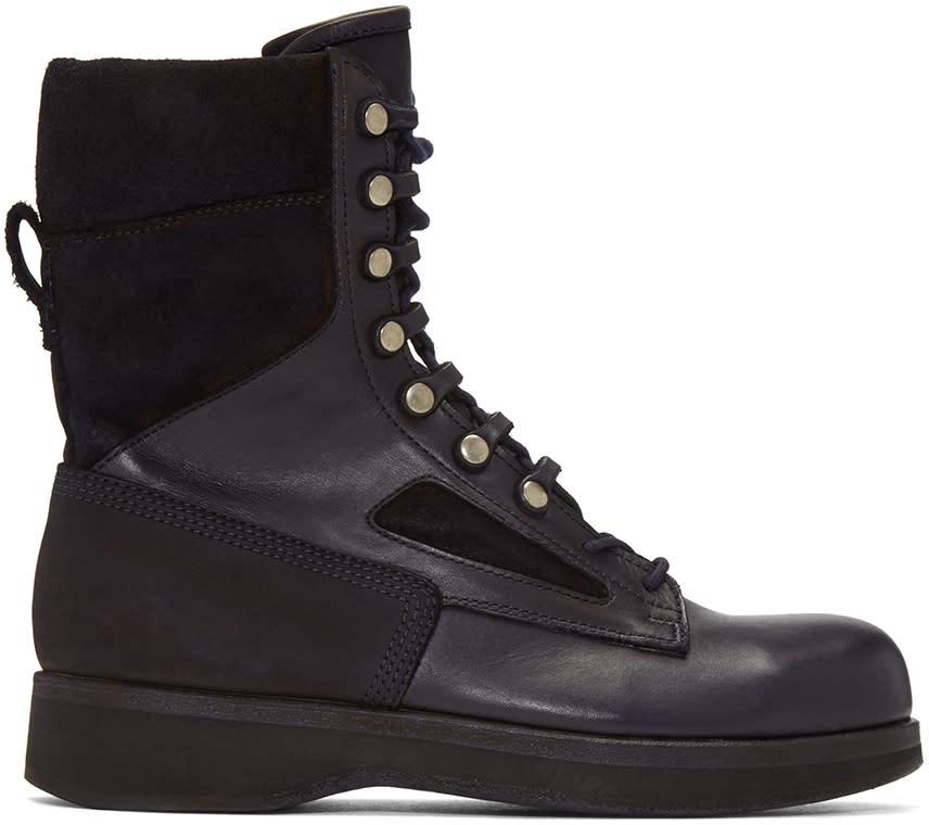 Sacai Navy Hender Scheme Edition Lace-up Boots