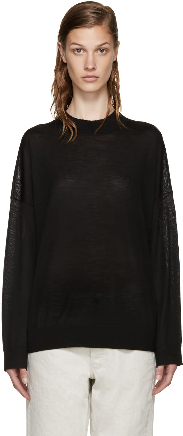 6397 Black Merino Turtleneck