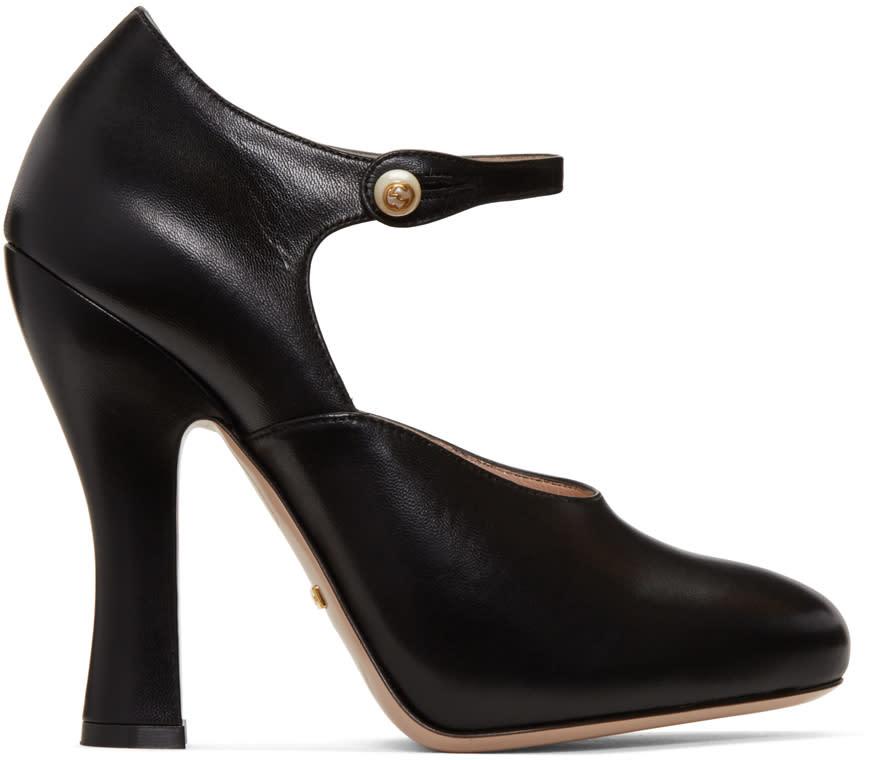 Gucci Black Lesley Heels