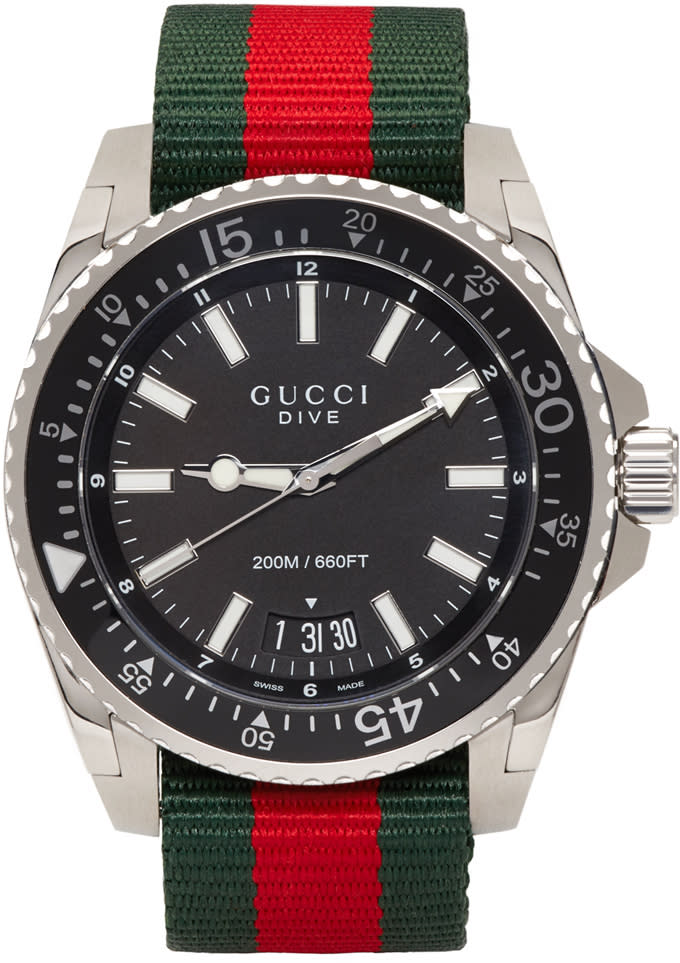 Gucci Silver Dive Watch