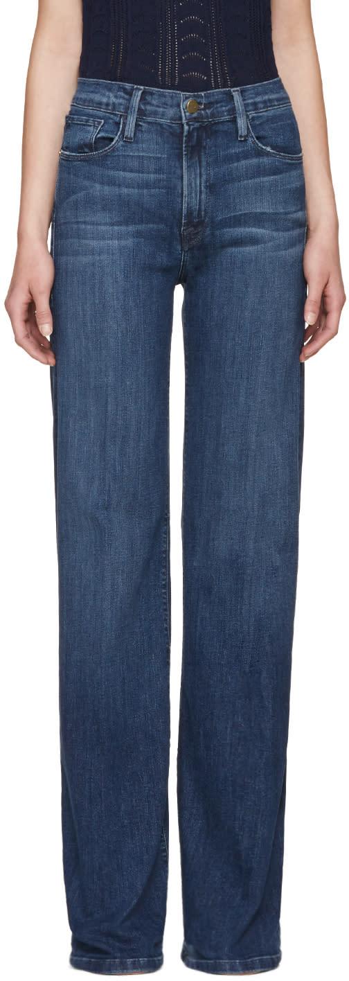 Frame Denim Blue Le Capri Jeans