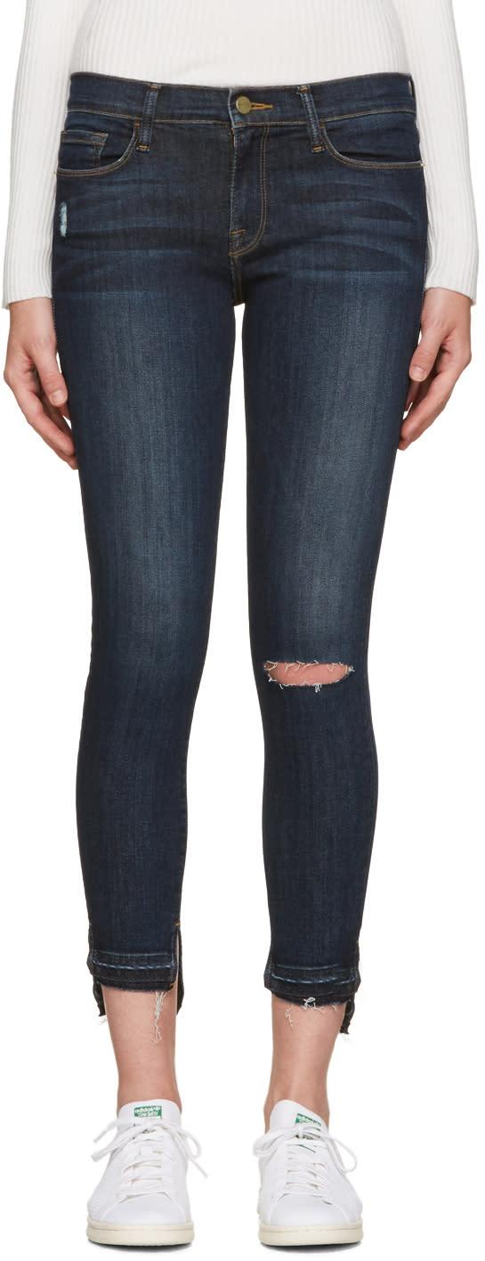 Frame Denim Blue Le Skinny De Jeanne Jeans
