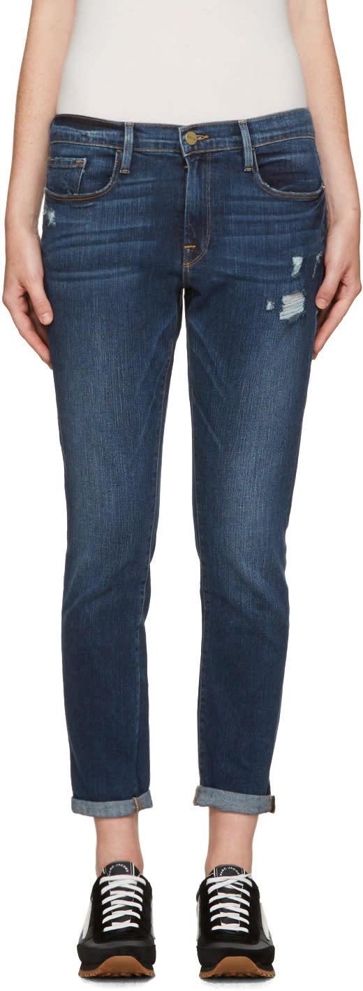 Frame Denim Blue Le Garcon Jeans