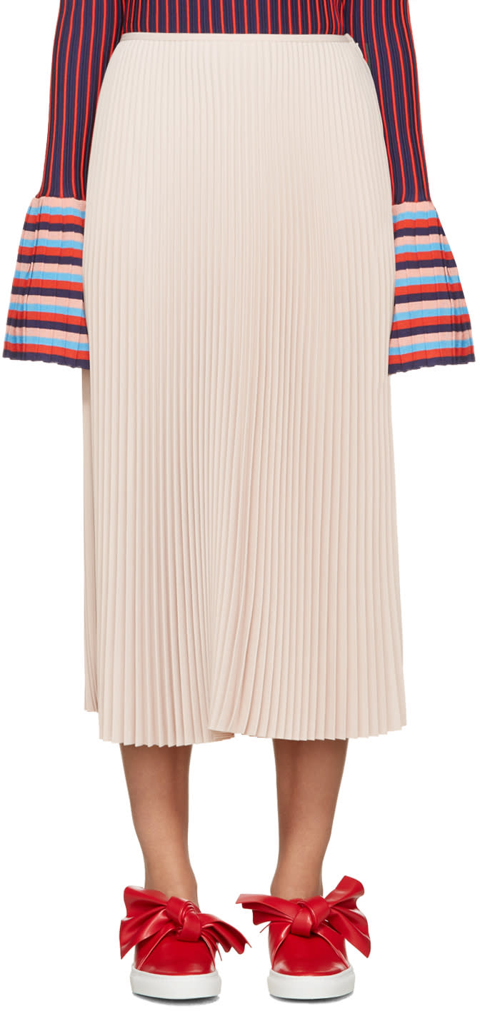 Cedric Charlier Pink Pleated Skirt