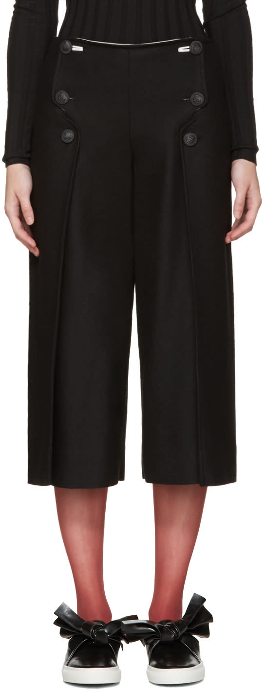 Cedric Charlier Black Sailor Trousers