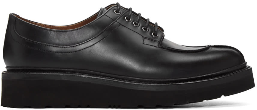 Grenson Black Percy Lace Shoes