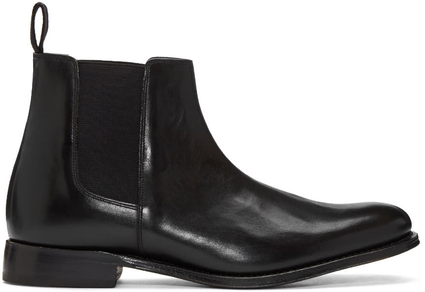 Grenson Black Leather Declan Chelsea Boots