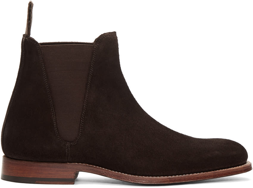 Grenson Brown Suede Nolan Chelsea Boots