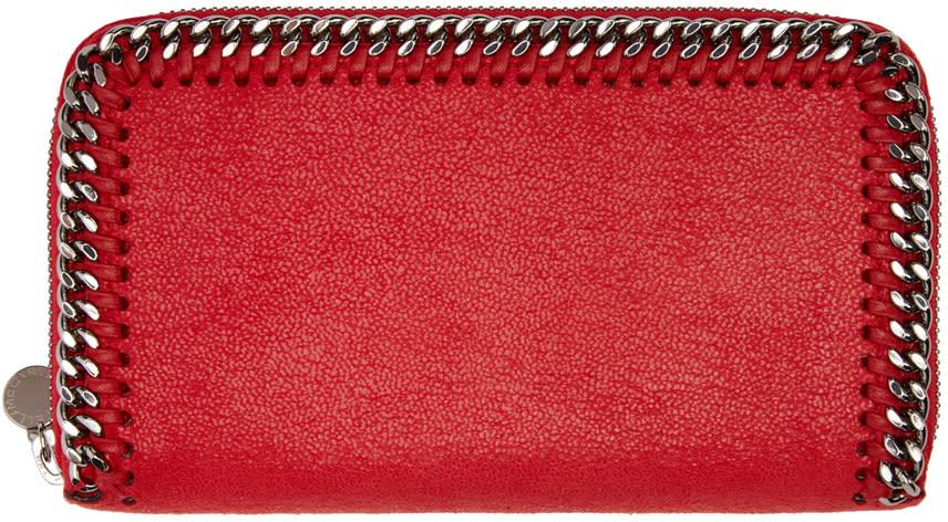 Stella Mccartney Red Falabella Shaggy Deer Wallet