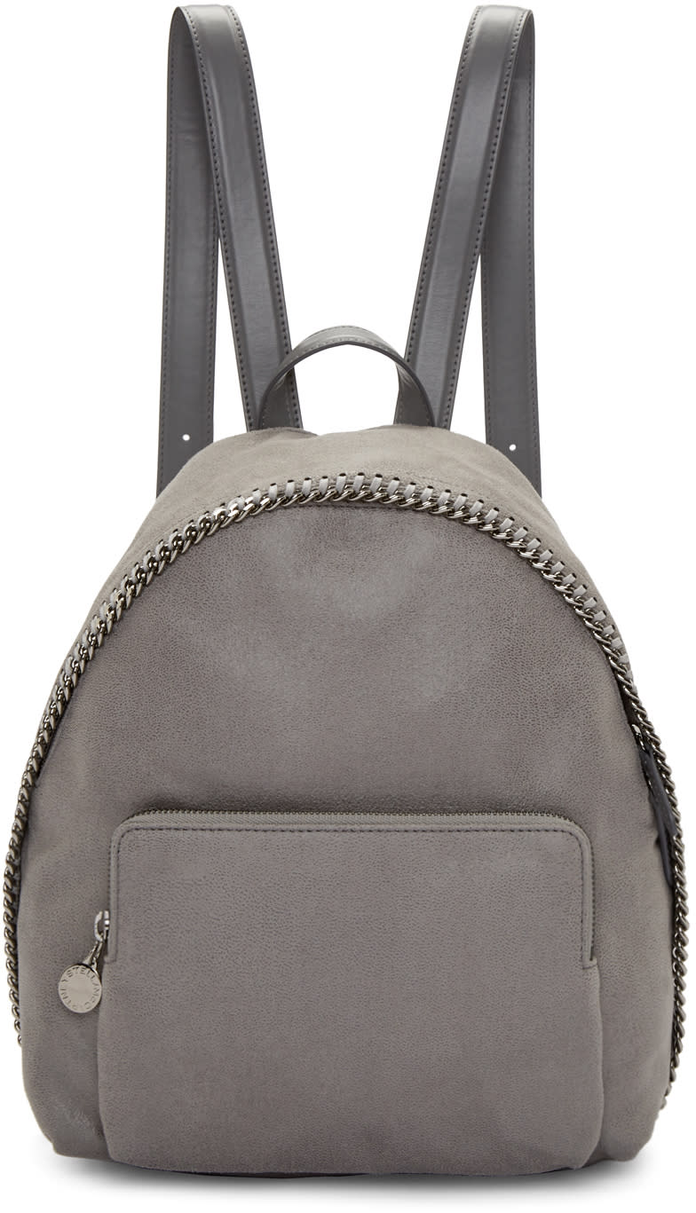 Stella Mccartney Grey Small Falabella Shaggy Deer Backpack