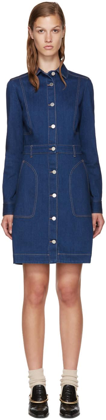 Stella Mccartney Blue Denim Dress