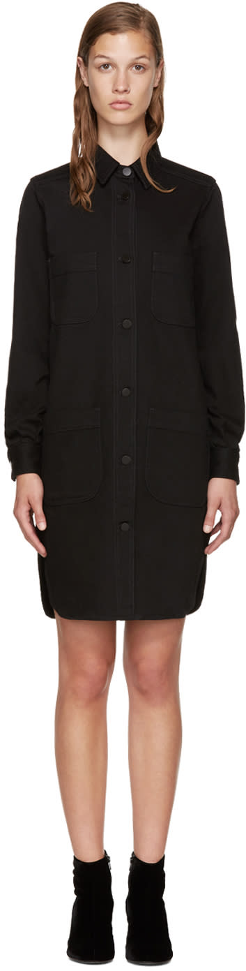 Stella Mccartney Black Denim Shirt Dress
