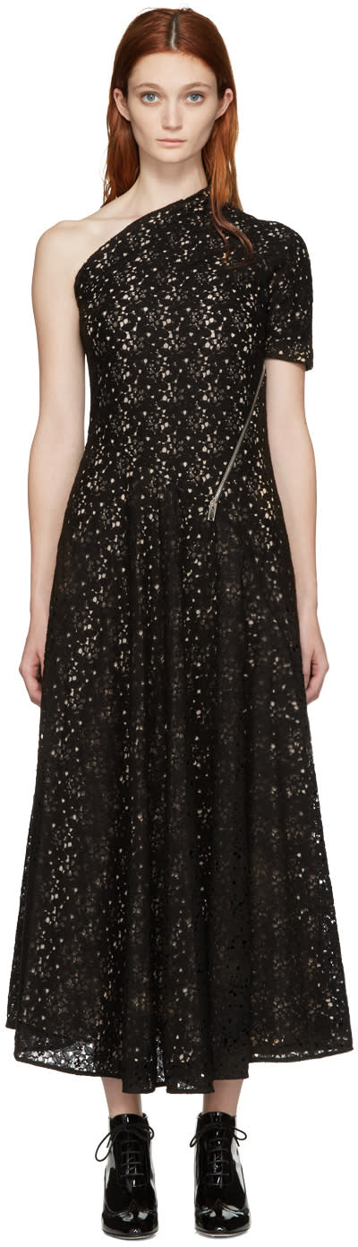 Stella Mccartney Black Lace Single-shoulder Dress