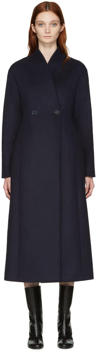Stella Mccartney Blue Wool Lisis Coat