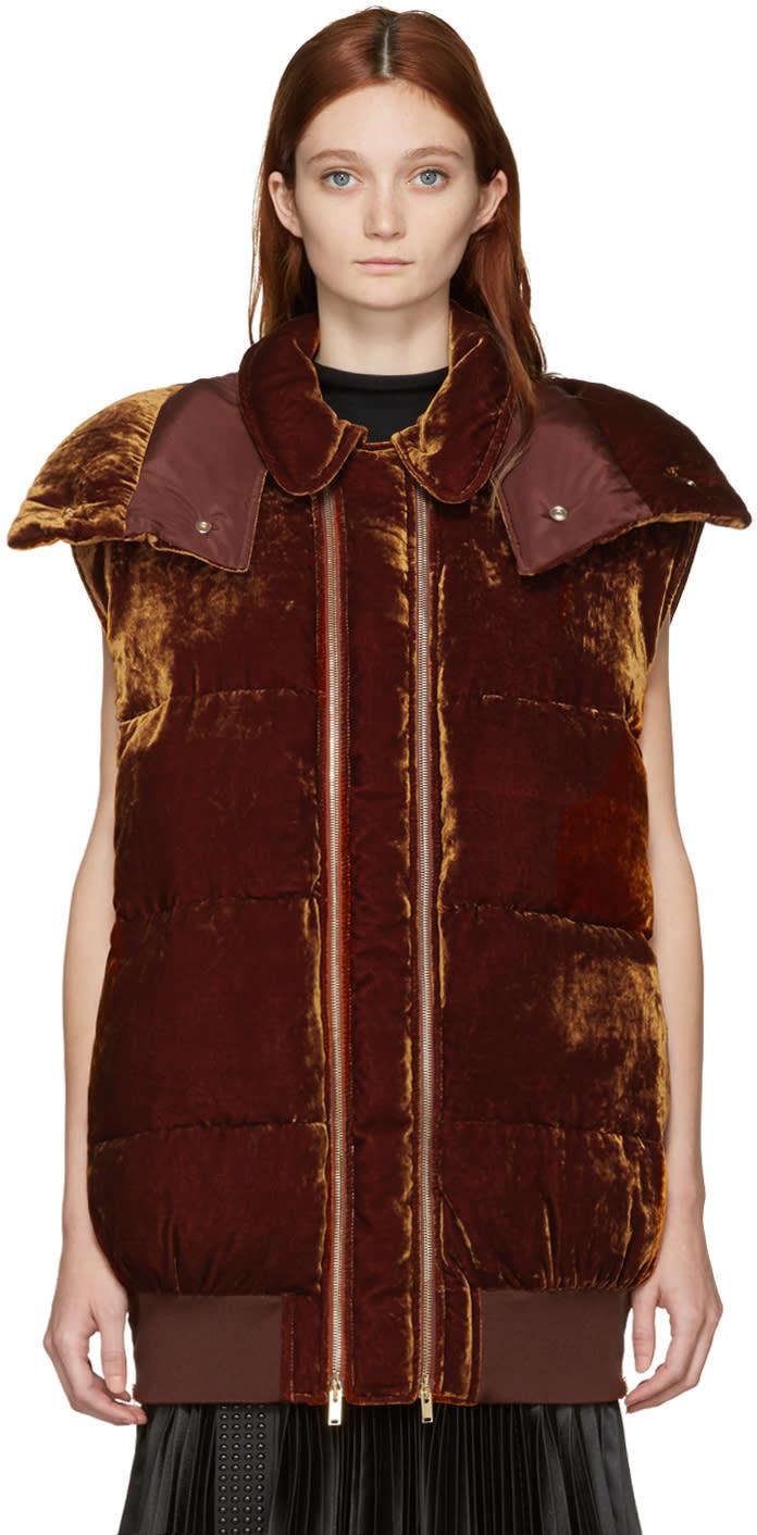 Stella Mccartney Brown Velvet Melissa Vest