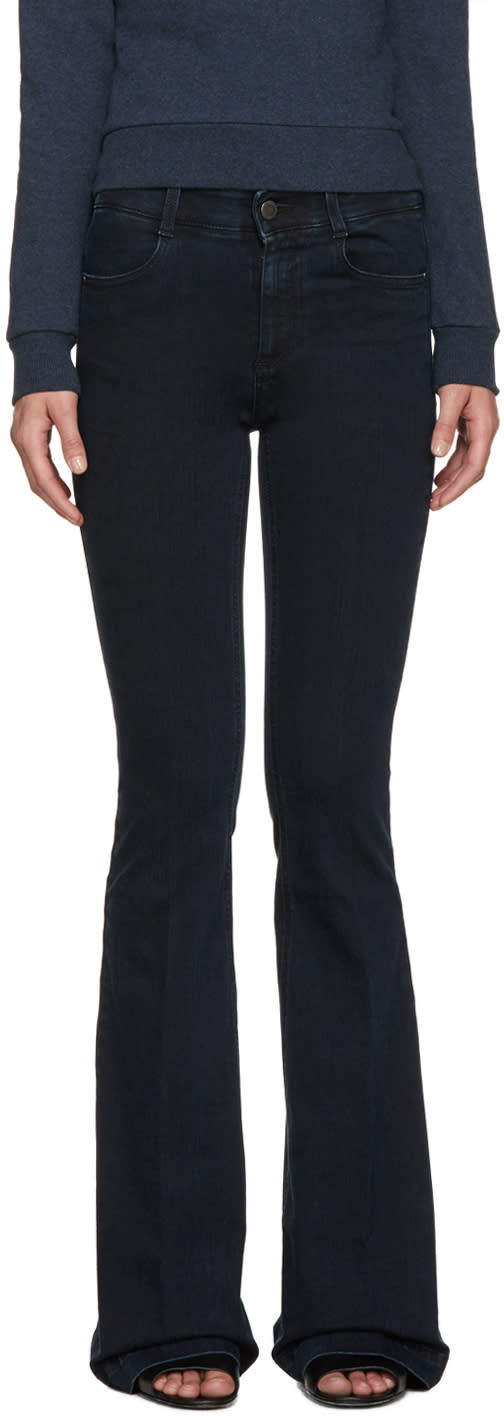 Stella Mccartney Navy Flared The 70s Jeans