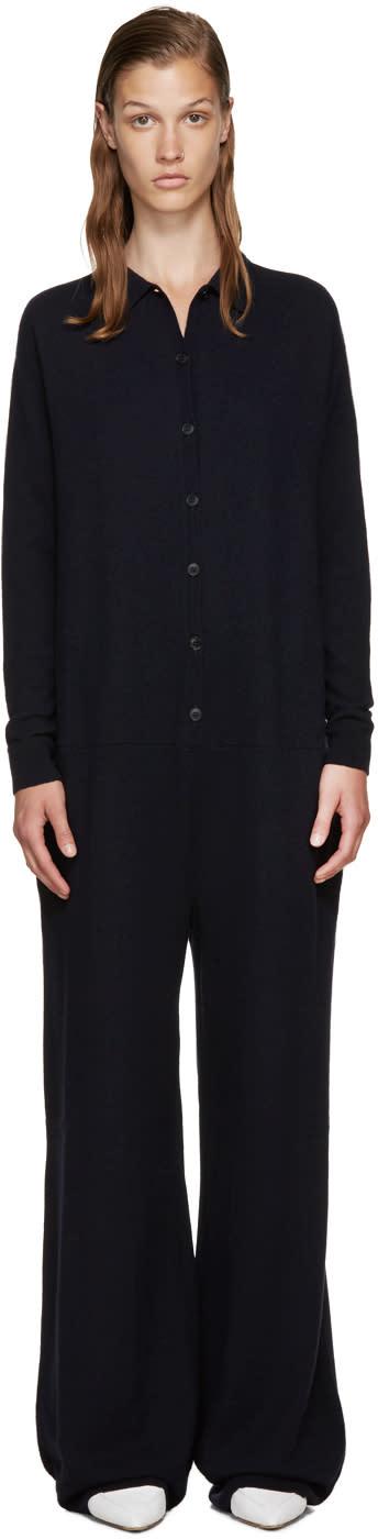 Stella Mccartney Navy Wool Jumpsuit