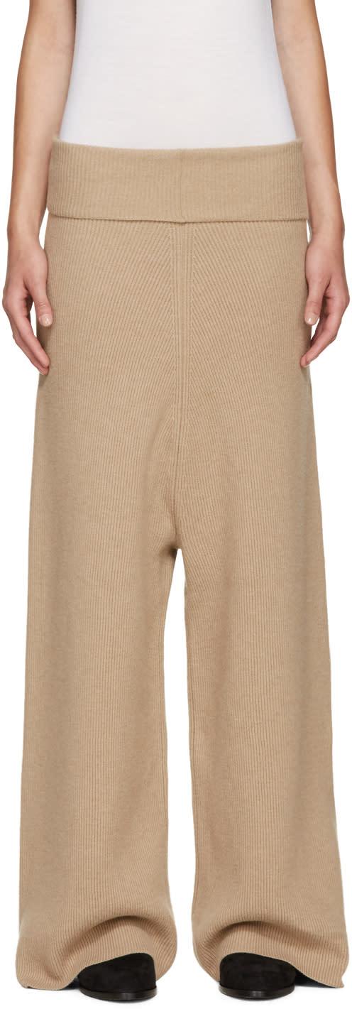 Stella Mccartney Camel Wool Lounge Pants