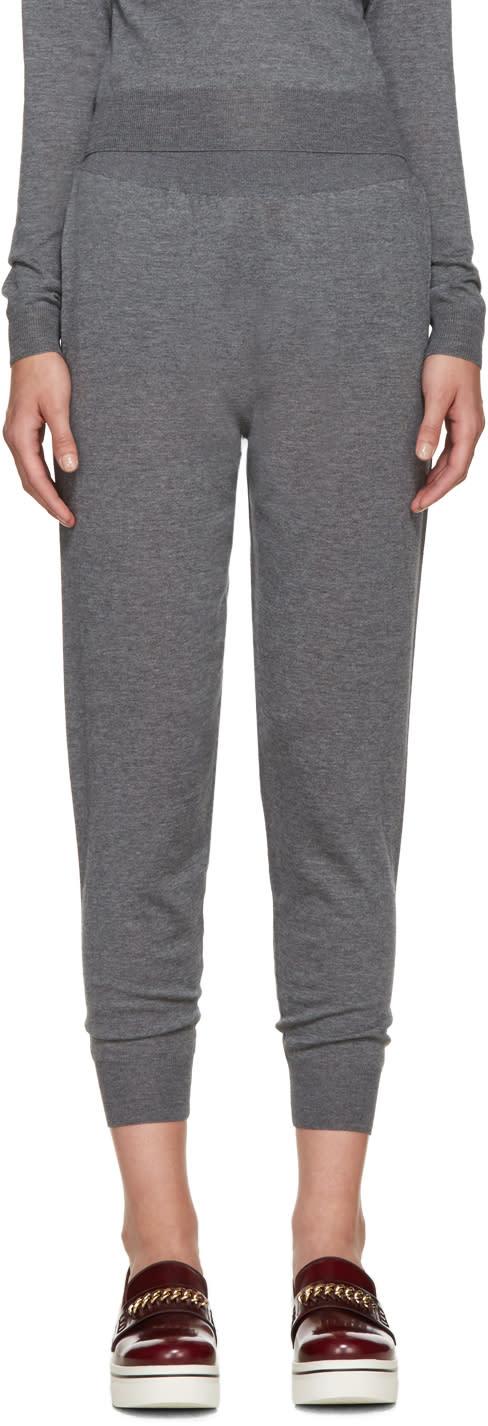 Stella Mccartney Grey Wool Lounge Pants