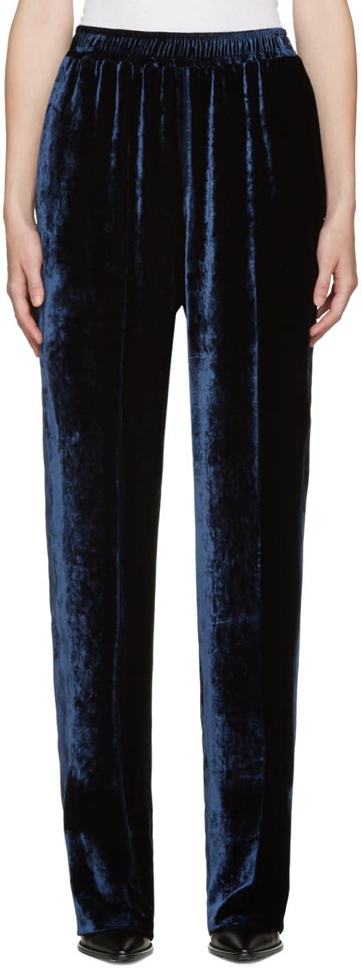 Stella Mccartney Blue Velvet Camilla Trousers