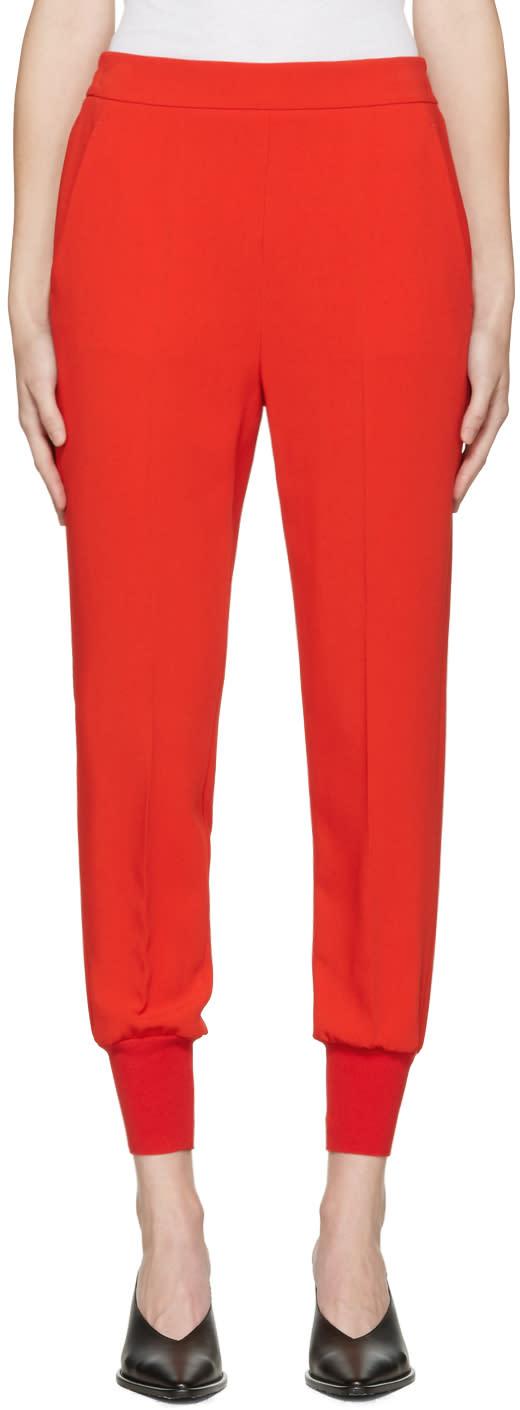 Stella Mccartney Red Julia Trousers