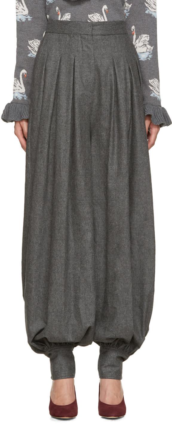 Stella Mccartney Grey Wool Giulietta Trousers