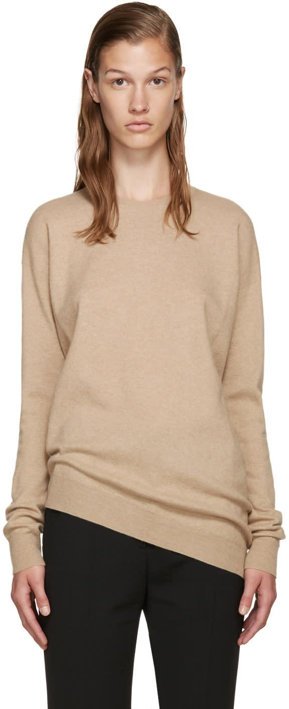 Stella Mccartney Beige Asymmetric Sweater