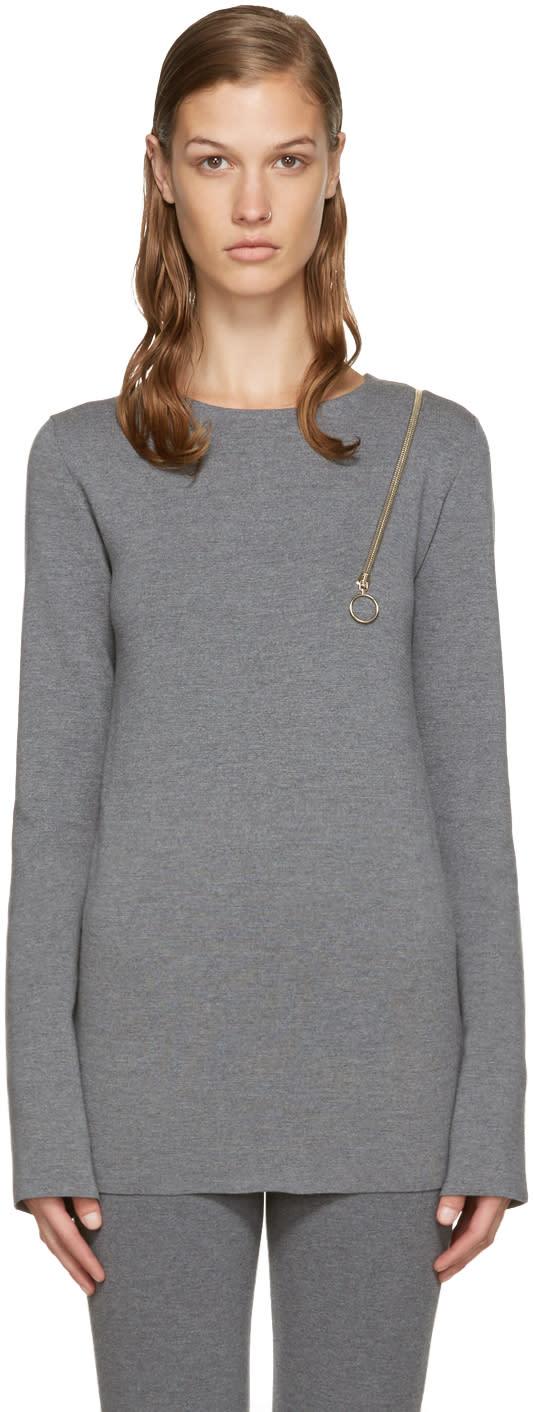 Stella Mccartney Grey Strong Lines Sweater