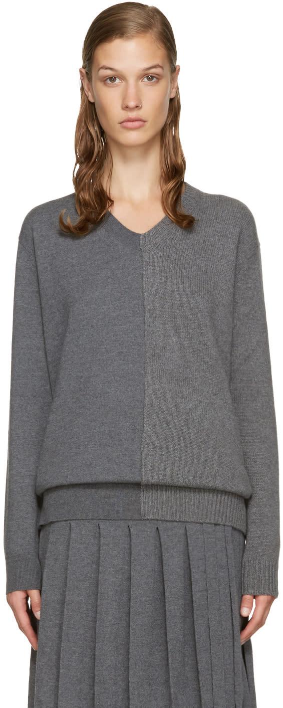 Stella Mccartney Grey V-neck Sweater
